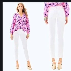 Lilly Pulitzer | White Worth Skinny Jeans